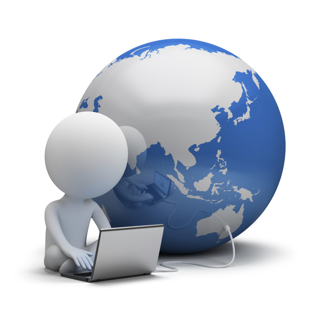 3d small people - global communication